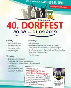 Dorffest Plakat